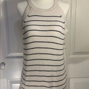 Navy and Cream Striped old navy sweater top sz M